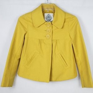 BB Dakota Mustard Yellow Dot Textured Jacket